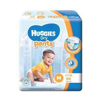 Picture of Huggies Dry Pants-M (6-11kg) 60 Pieces