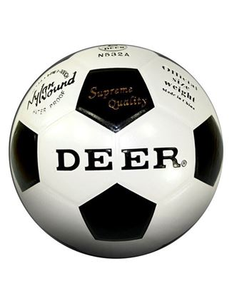 Picture of Premier League Size 5 Deer Football - White and Black