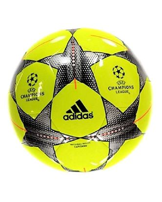 Picture of Adidas Champion League Size 5 Football – Silver and Yellow