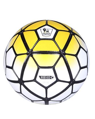 Picture of Premier League Strike Size 5 Football – White and Yellow