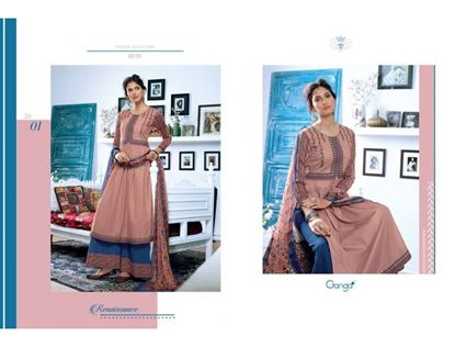 Picture of Ganga Fashion Carnation & Navy Blue