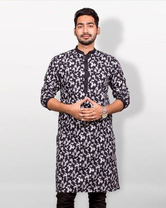 Picture of Lavelux Cotton Casual Panjabi - Black