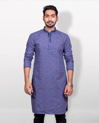Picture of Lavelux Cotton Casual Panjabi - Light Slate Blue