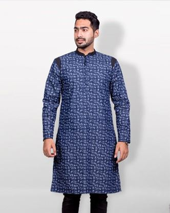 Picture of Lavelux Denim Casual Panjabi - Deep Blue