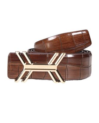 Picture of Yamin Exclusive Men's Exclusive Box Leather Belt - Brown