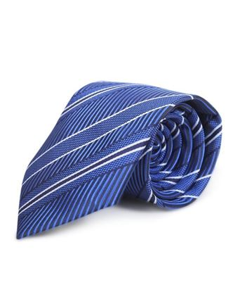 Picture of Yamin Exclusive Silk Casual Tie - Blue Stripe