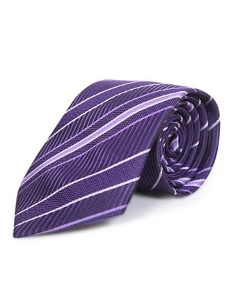 Picture of Yamin Exclusive Silk Casual Tie - Deep Purple Stripe