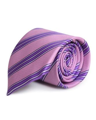 Picture of Yamin Exclusive Silk Casual Tie - Old Rose Stripe