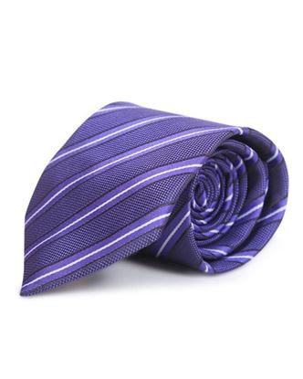 Picture of Yamin Exclusive Silk Casual Tie - Indigo Stripe