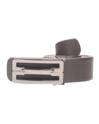 Picture of Yamin Exclusive Leather Formal Belt for Men - Massimo Dutti Chocolate