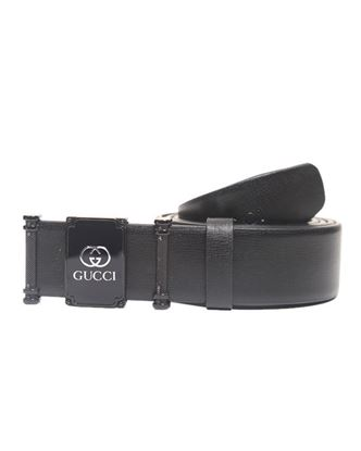 Picture of Yamin Exclusive Leather Formal Belt for Men - Gucci Black