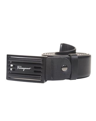 Picture of Yamin Exclusive Leather Formal Belt for Men - Ferragamo Black