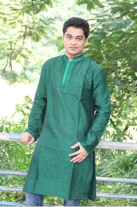 Picture of Yamin Exclusive Forest cotton Panjabi