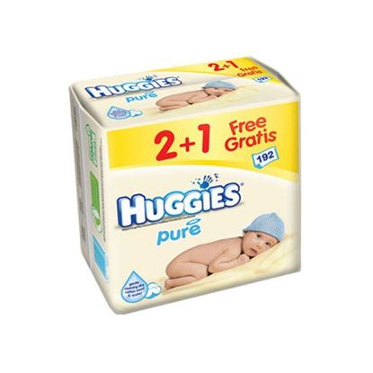 Picture of Huggies Pure Baby Wipes, 192pcs