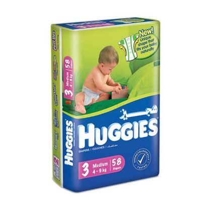 Picture of Huggies Medium 3, 58 Diapers