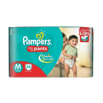 Picture of Pampers Dry Pants Medium 56 Pcs