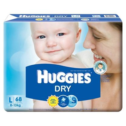 Picture of Huggies Dry Diapers, 64Pcs