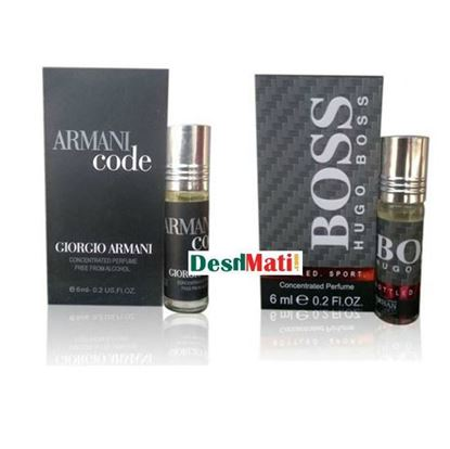 Picture of Combo of Armani Code 6ml & Hugo Boss 6ml Roll On Perfume