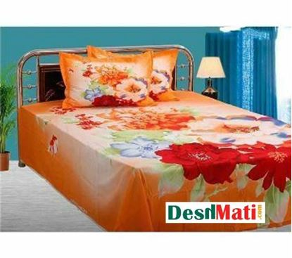 Picture of HOME TEX sets of bed sheets and orange-red and dark orange code#2268