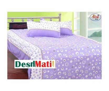 Picture of HOME-TEX Bed Sheet White & Dusk with two cover code#2272