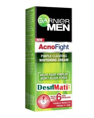 Picture of Garnier Acno Fight Pimple Clearing Whitening Cream For Men - 45gm