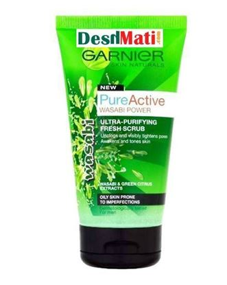 Picture of Garnier Wasabi Pure Active Ultra Purifying Fresh Scrub - 150ml