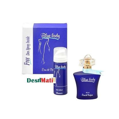 Picture of Rasasi Blue Lady Eau De Parfume For Women - 40ml With Deo Spray