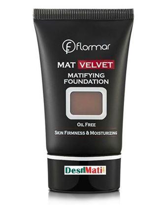 Picture of Flormar Mat Velvet Matifying Foundation - V218 Dark Brown