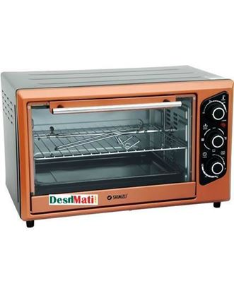 Picture of Shimizu SM-28 TO Electric Oven - Gold and Gray