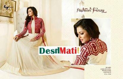 Picture of LT Fabric Original Indian kurti Cream & Cherry