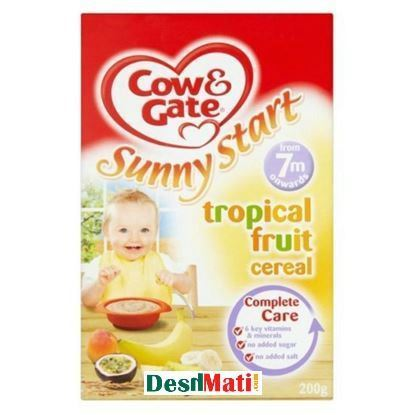 Picture of Cow & Gate Sunny Start Tropical Fruit Cereal 7 month + (200Gm).