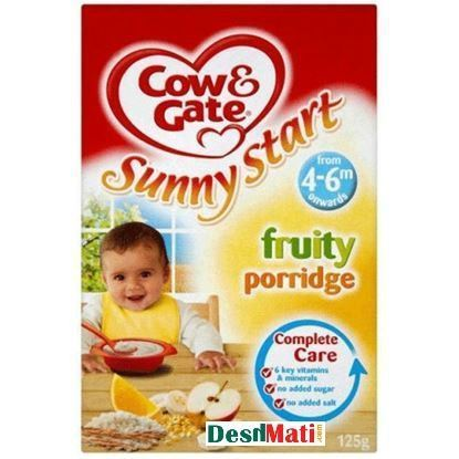 Picture of Cow & Gate Sunny Start Fruity Porridge For 4-6 Months Baby (125Gm)