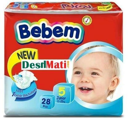 Picture of Bebem Baby Diaper (Belt System) 5 Junior (11 - 25 kg) 28 pcs