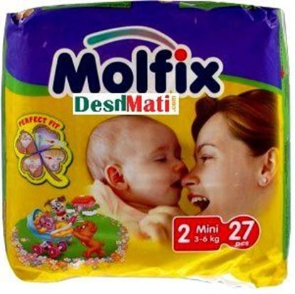 Picture of Molfix Baby Diapers (Balt System) 2 Mini (3-6kg) 27 pcs