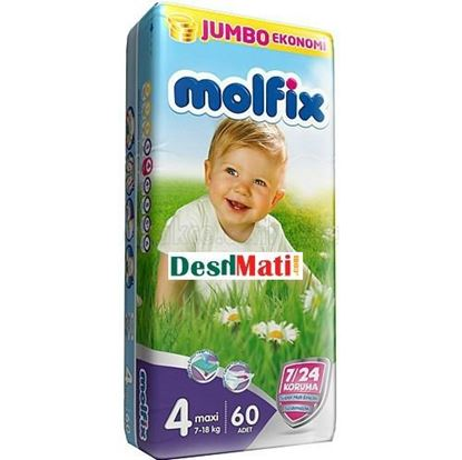 Picture of Molfix Baby Diapers (Balt System) 4 Maxi (7-18kg) 60 pcs