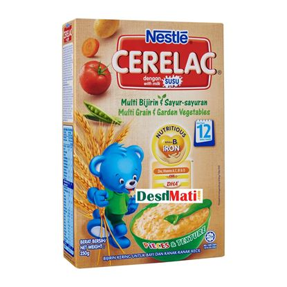 Picture of NESTLE CERELAC Multi-Grain And Garden Vegetables 250G