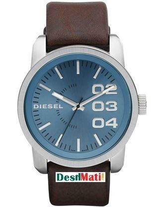 Picture of DIESEL DZ1512 Leather Strap Quartz Analog Watch - Brown