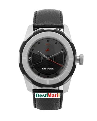 Picture of Fastrack  Leather Analog Watch for Men - Black