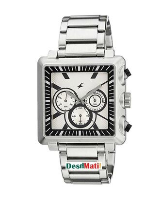 Picture of Fastrack Stainless Steel Chronograph Wrist Watch for Men - Silver