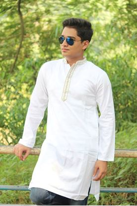 Picture of Yamin Exclusive White cotton panjabi