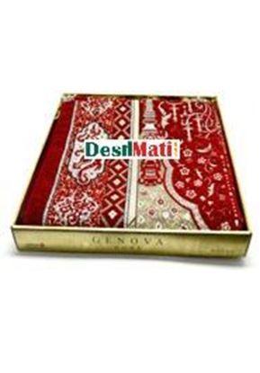 Picture of Muslim Prayer Genova Home Aydin Box Janamaz-Turkey Red