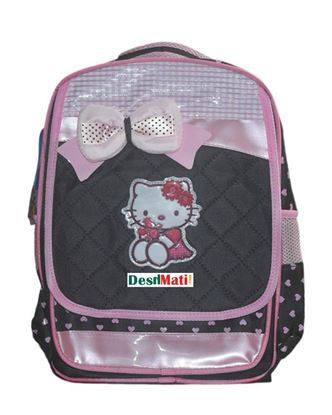 Picture of  Toy Land Polyester Hello Kitty School Bag - Multicolor