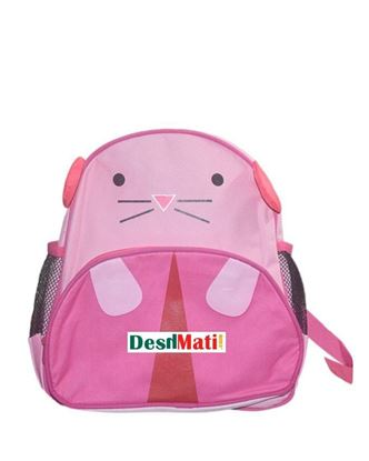 Picture of Toy Land Polyester Panther Design Kids School Bag - Pink