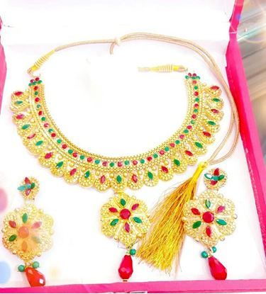 Picture of Raka Fashion Exclusive Necklace Earrings Set Code #7655