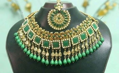 Picture of Raka Fashion Exclusive Necklace Earrings Set Code # 7651