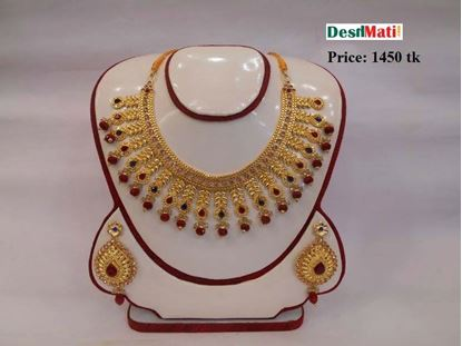 Picture of Raka Fashion Exclusive Necklace Earrings Set Code #7660