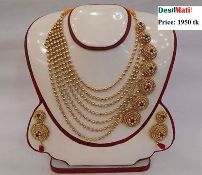 Picture of Raka Fashion Exclusive Necklace Earrings Set Code #7664