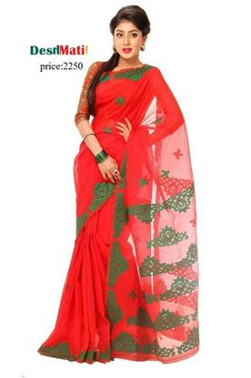 Picture of Raka Fashion Exclusive silk saree with embroidery-applique work.6032