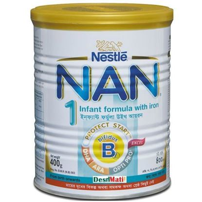 Picture of Nestlé NAN 1 Infant formula with iron Optipro TIN 400gm.