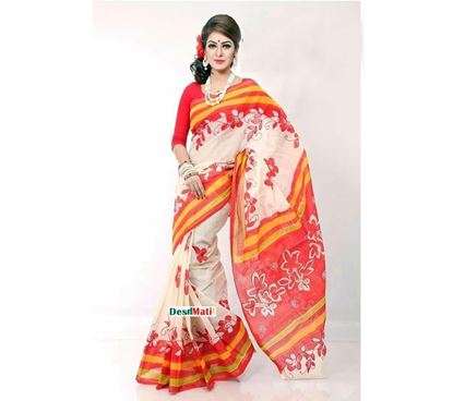Picture of Raka Fashion Exclusive Tule Print Tangail cotton saree code#1370